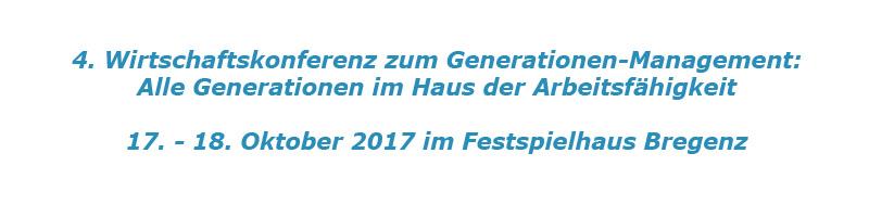 Wirtschaftskonferenz für Generationen-Management