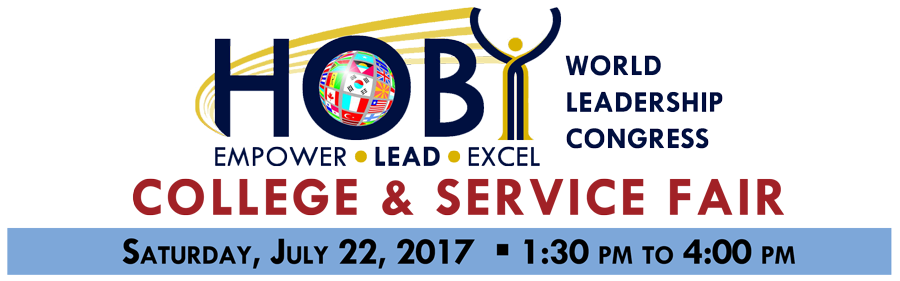 2017 HOBY WLC College & Service Fair