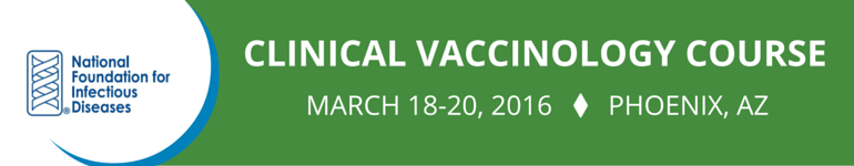 Clinical Vaccinology Course March 2016