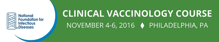 Clinical Vaccinology Course November 2016