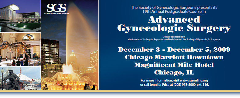 19th Annual Postgraduate Course in Advanced Gynecologic Surgery