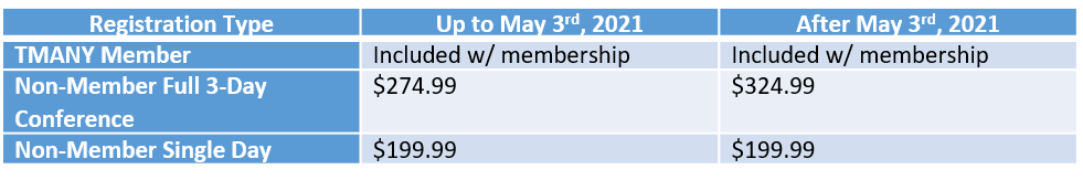 NYCE 2021 Attendee Pricing