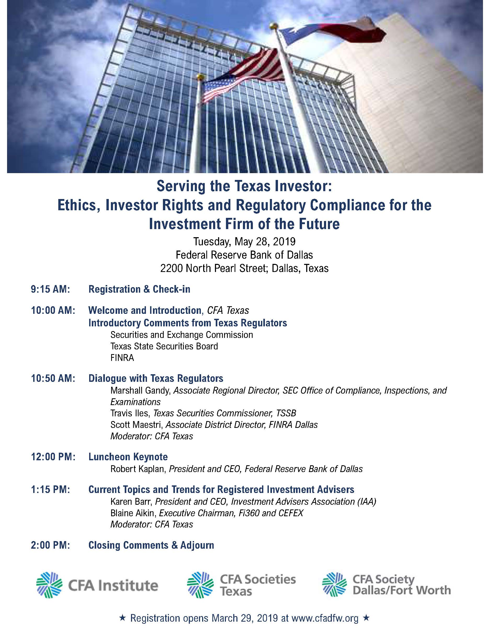 CFAT Putting Investors First event
