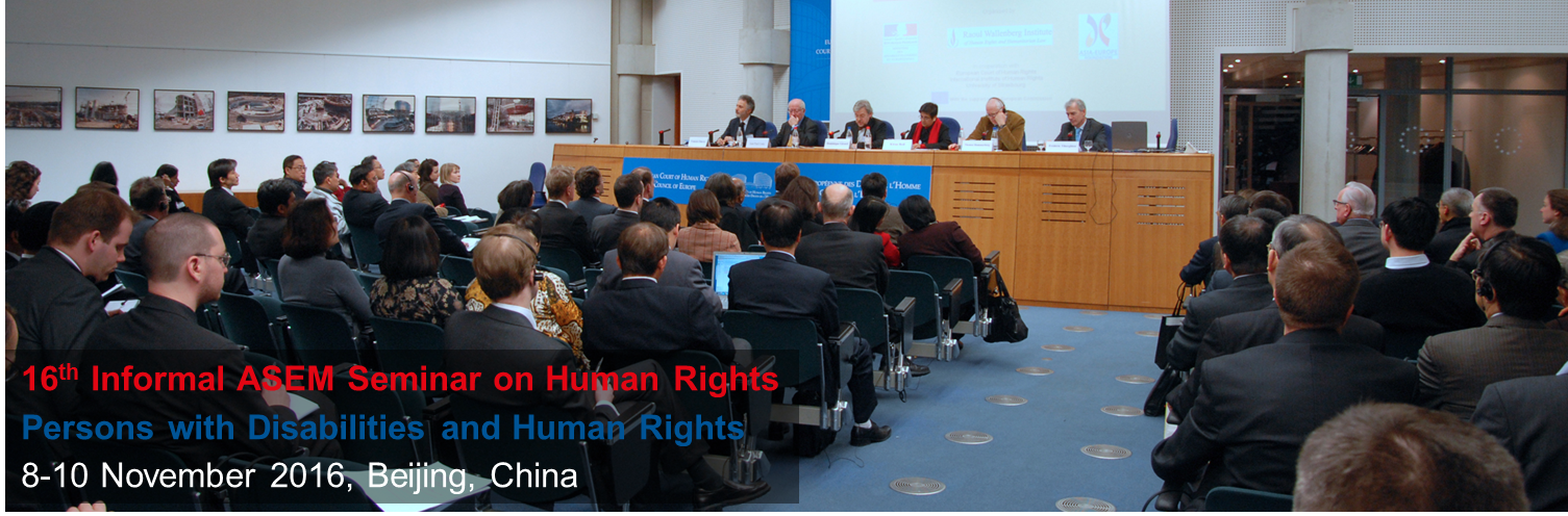 16th Informal ASEM Seminar on Human Rights - Persons with Disabilities and Human Rights