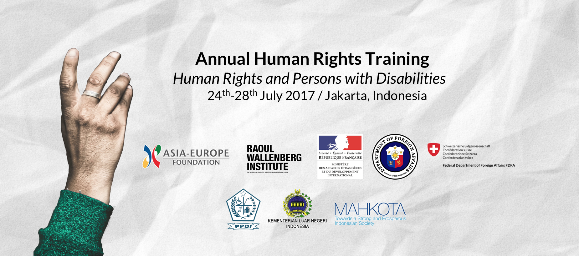 """Annual Human Rights Training: """"Human Rights and Persons with Disabilities"""""""