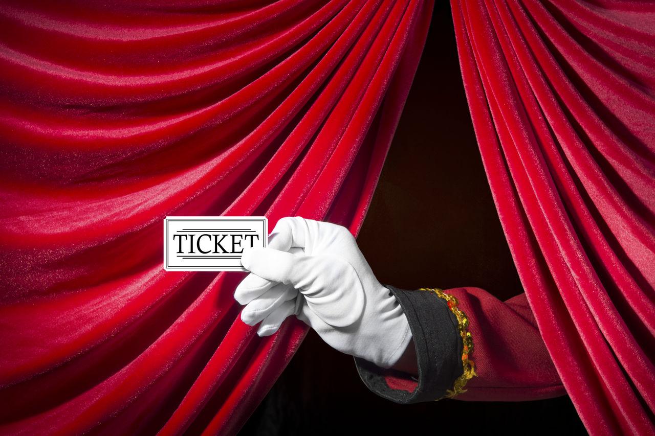 Ticket drapes