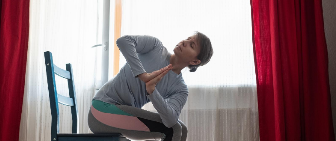 Seated Twisted Yoga Pose