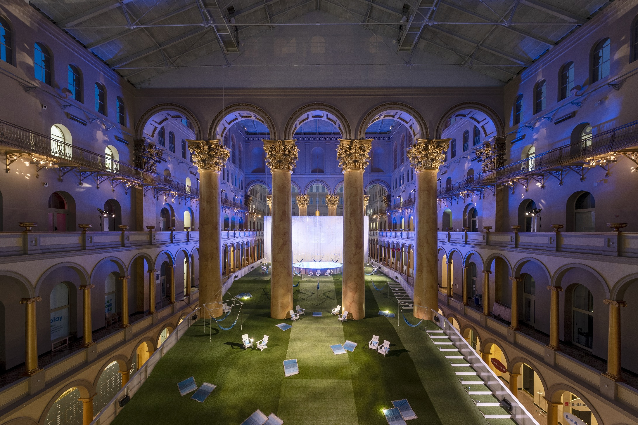 Lawn at the National Building Museum. Photo by Timothy Schenck