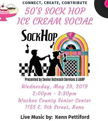 Olders American Month Sock Hop Flyer