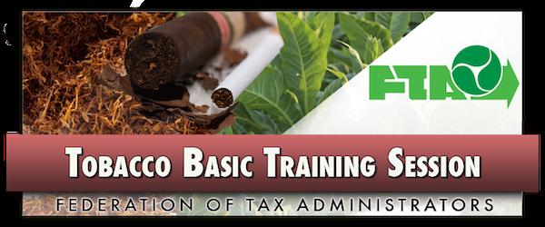 2016 Tobacco Basic Training Class