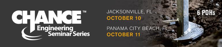 CHANCE Engineering Seminars - Jacksonville & Panama City Beach, FL