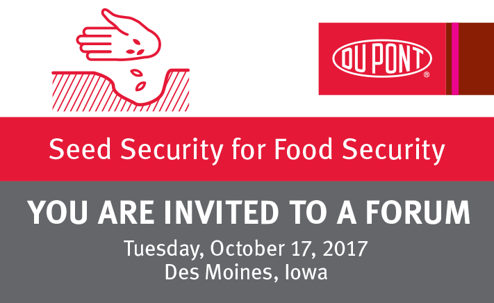 2017 Seed Security for Food Security Forum