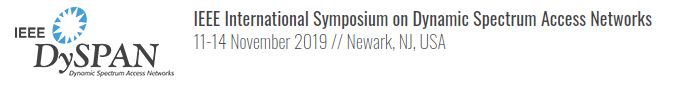 IEEE International Symposium on Dynamic Spectrum Access Networks (DySPAN)