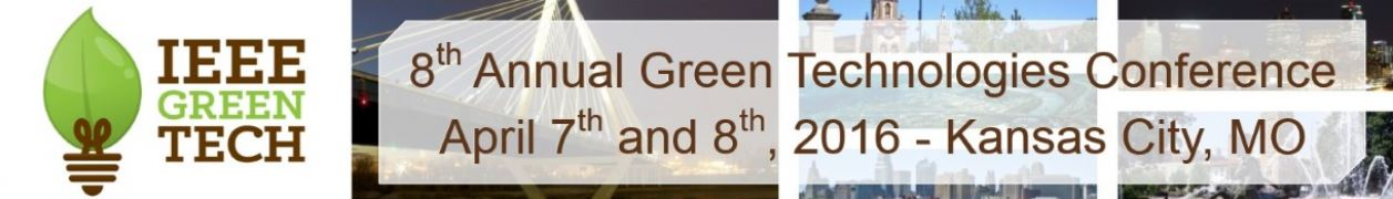 2016 IEEE Region 5 Green Technology Conference