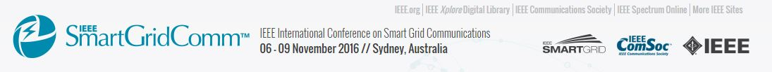 2016 IEEE International Conference on Smart Grid Communications (SmartGridComm)