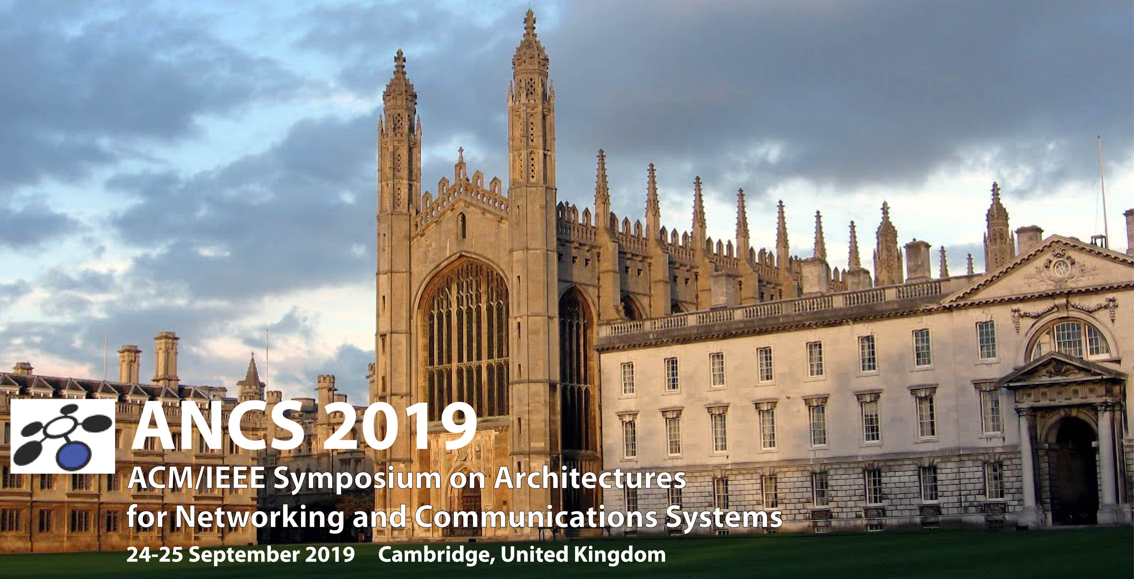 2019 ACM/IEEE Symposium on Architectures for Networking and Communications Systems (ANCS)