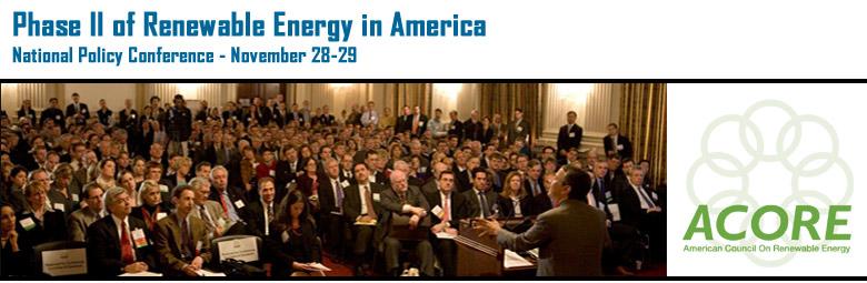 Phase II of Renewable Energy in America: A Global Outlook