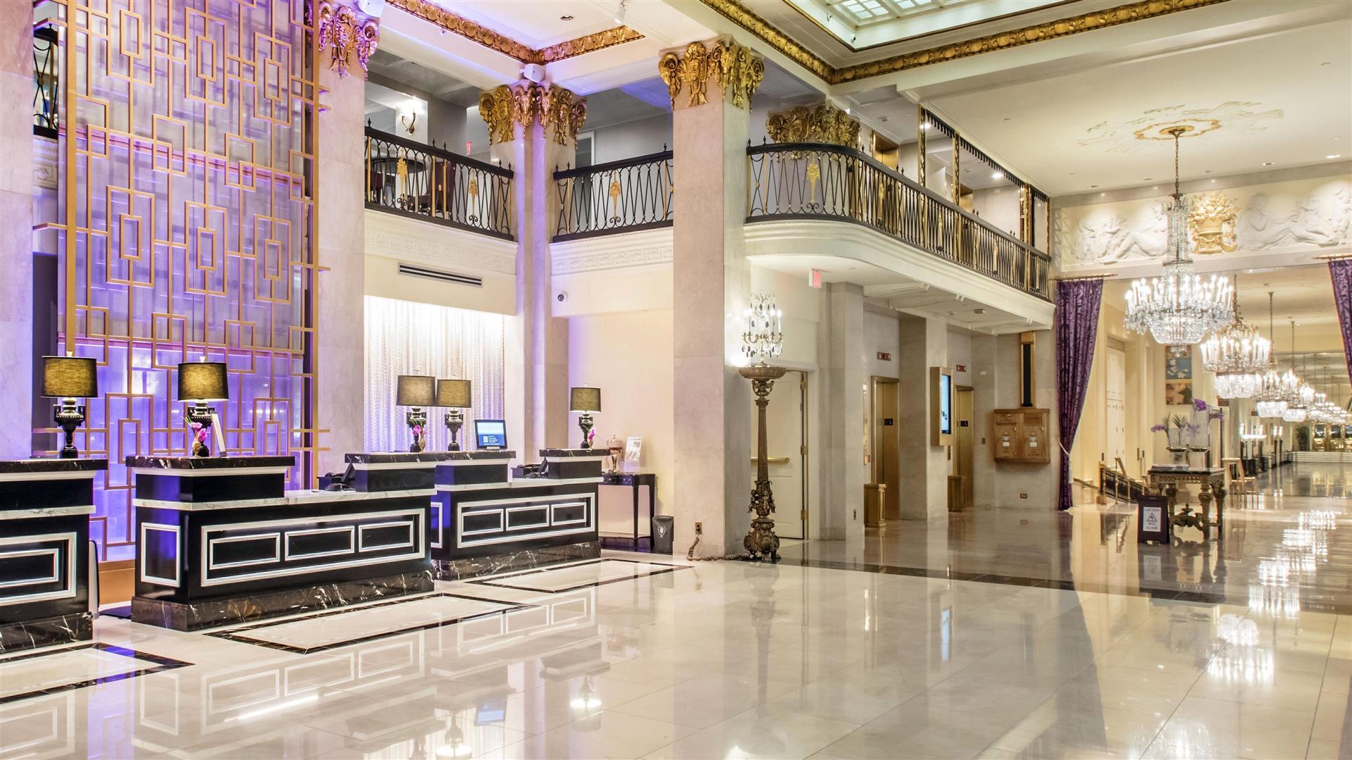 Mayflower Hotel lobby