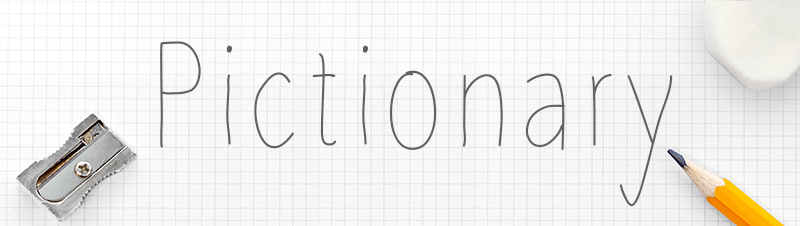 Pictionary-banner