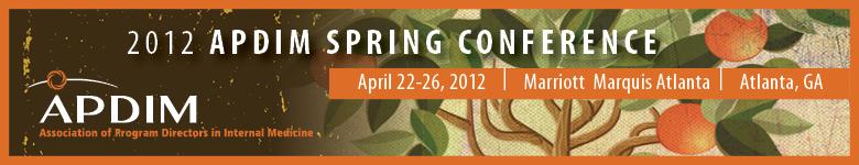 2012 APDIM Spring Conference