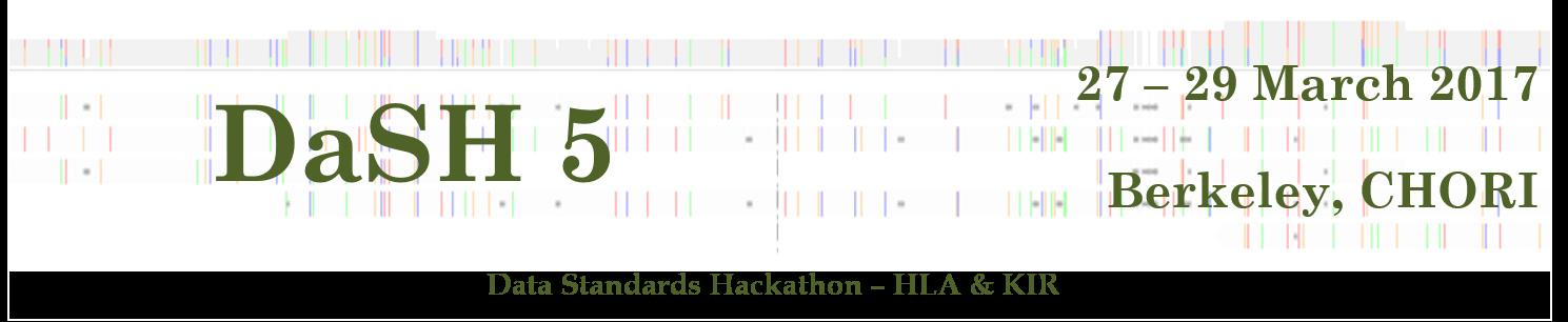2017 Data Standards Hackathon - HLA & KIR