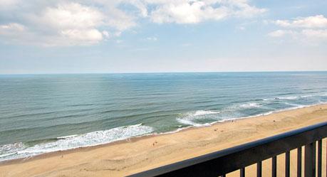 Beach view from Wyndham