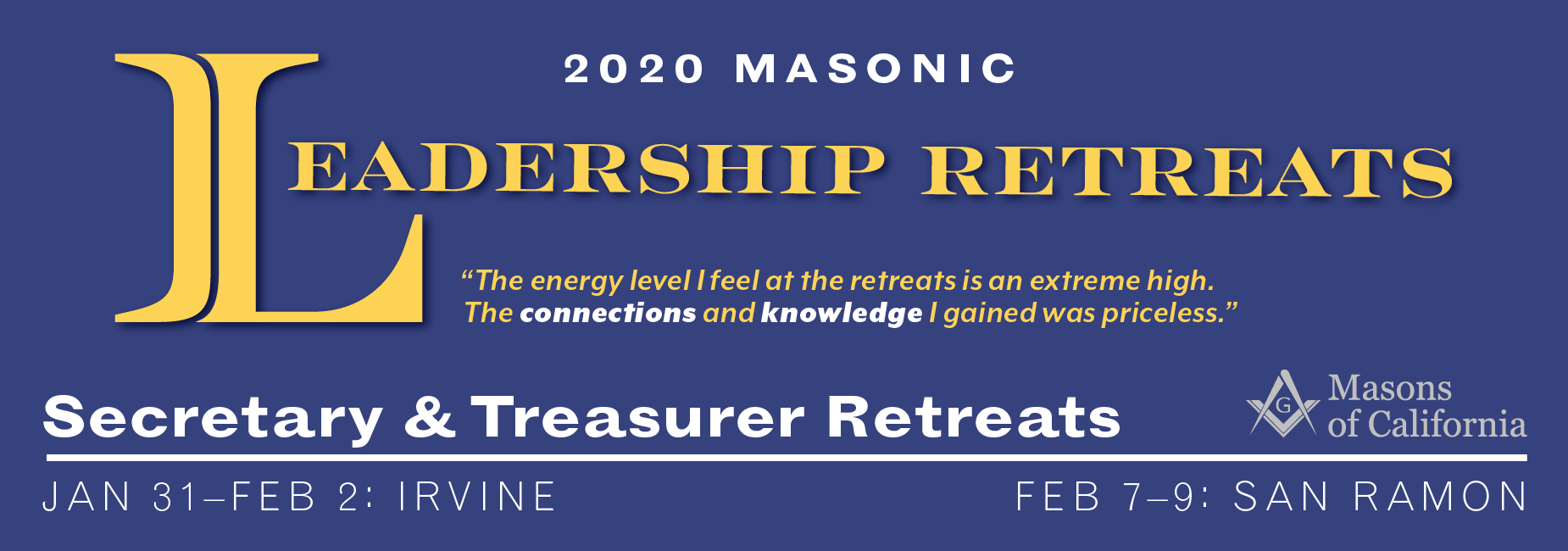 2020 Secretary and Treasurer Retreat