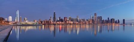 Chicago_sunrise_1 - Daniel Schwen, Wikimedia - com