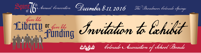 2016 Invitation to Exhibit banner