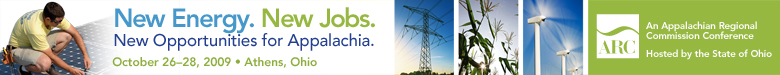 New Energy. New Jobs. New Opportunities for Appalachia Conference