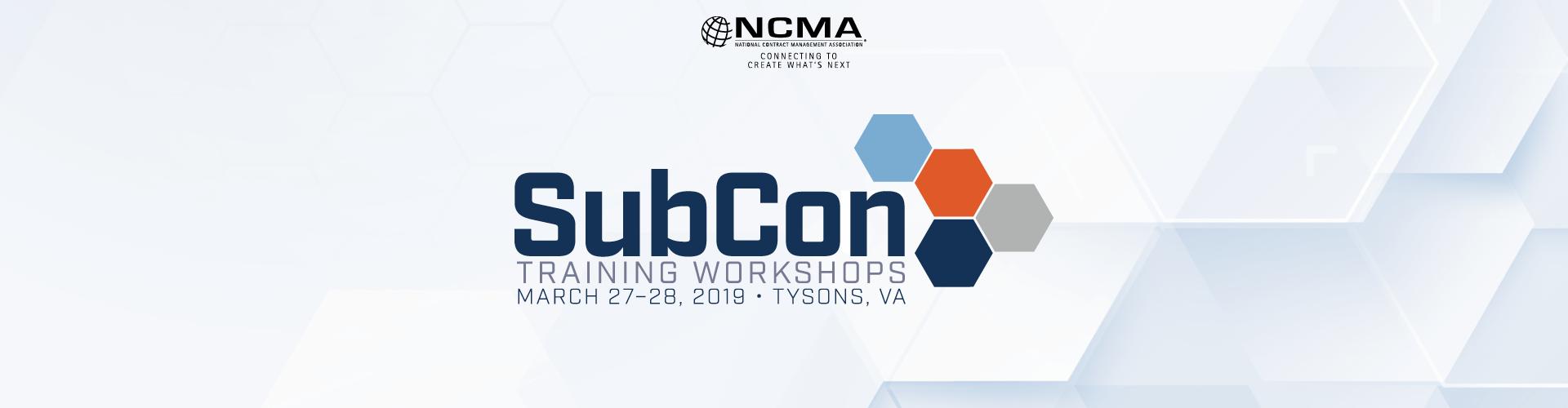 SubCon Training Workshops 2019