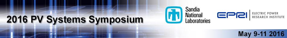 EPRI/Sandia PV Systems Symposium