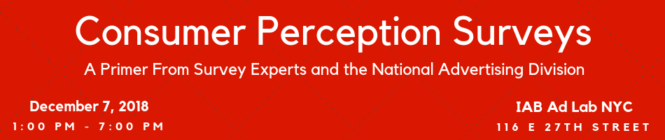 Consumer Perception Surveys - A Primer from Survey Experts and NAD