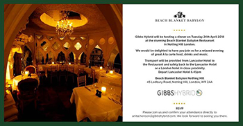 Gibbs Hybrid evening event at CWS Summit Europe 2018