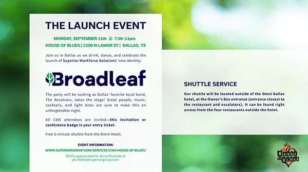 Broadleaf event at 2017 CWS Summit North America