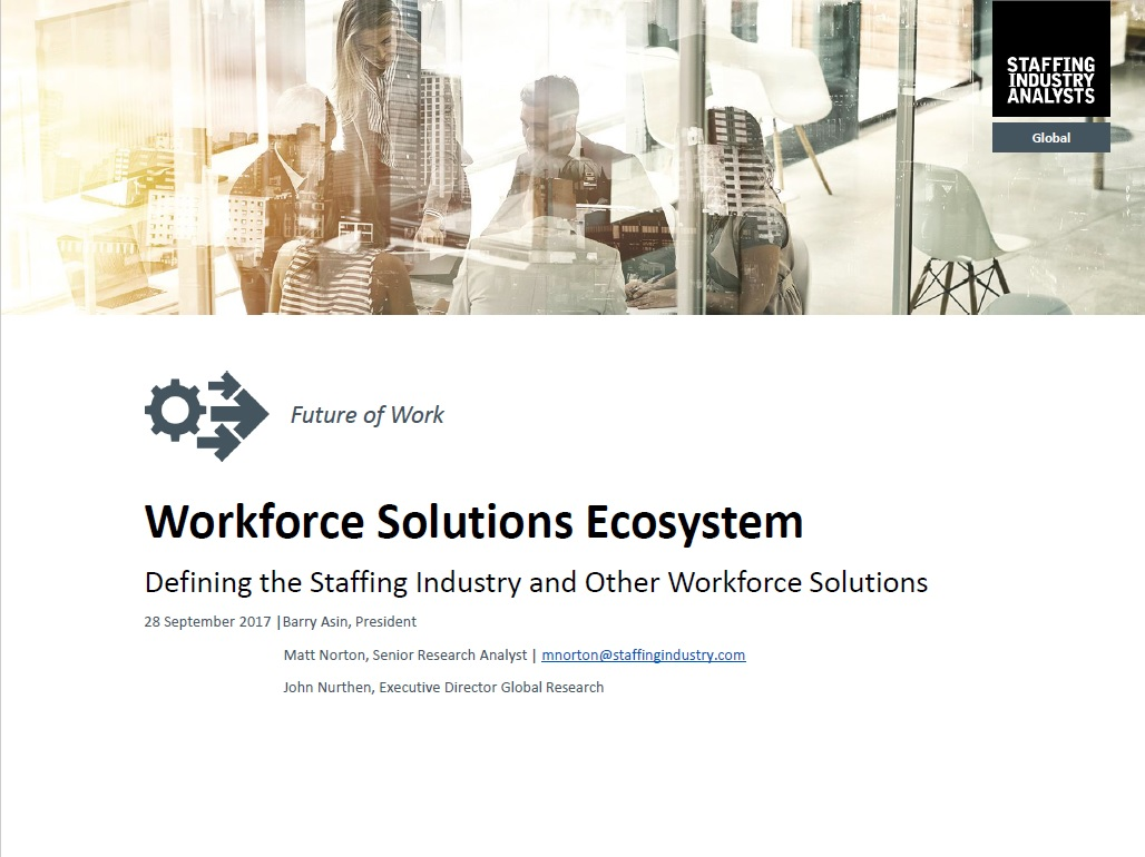 Workforce Solutions Ecosystem: 2017
