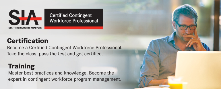 Certified Contingent Workforce Professional. Take the class, pass the test and get certified.