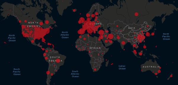 April 6, 2020 Live coronavirus map