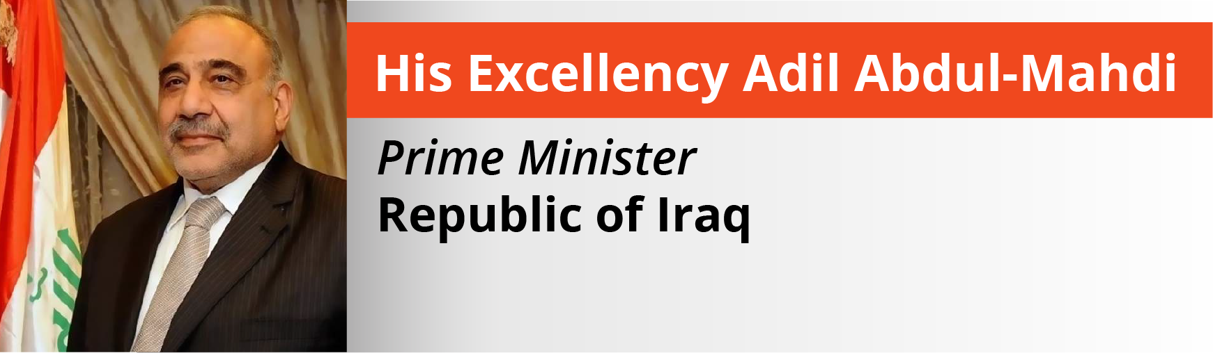 2018 October Newsletter Iraq Prime minister headsh