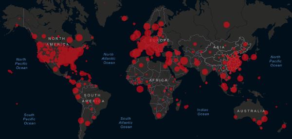 April 1, 2020 Live coronavirus map