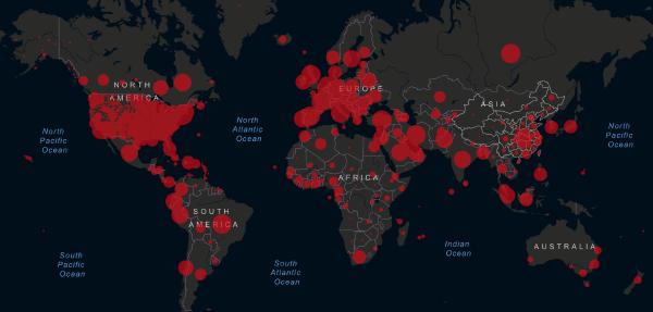 May 8, 2020 live coronavirus map