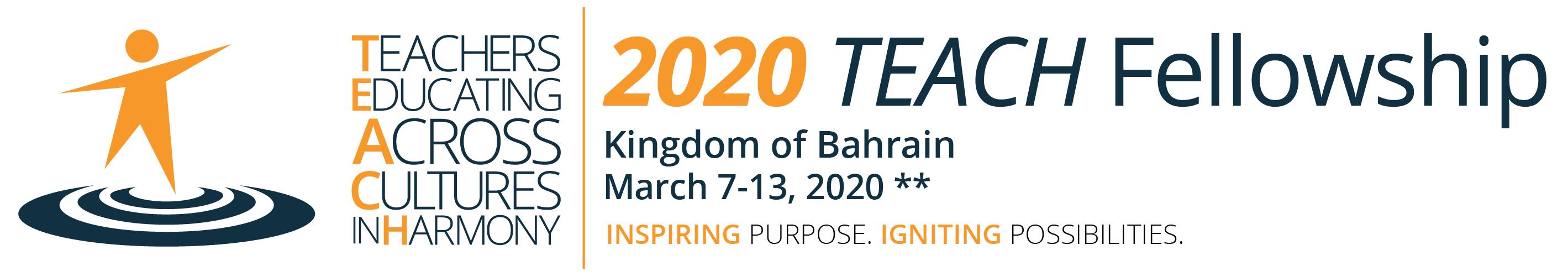 2020 TEACH Fellowship Header March 7-13, 2020