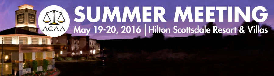 ACAA 2016 Summer Conference