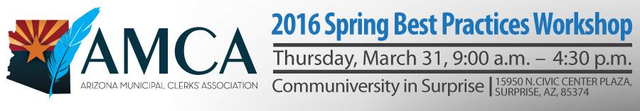 2016 AMCA Spring Training: City/Town Clerk Best Practices