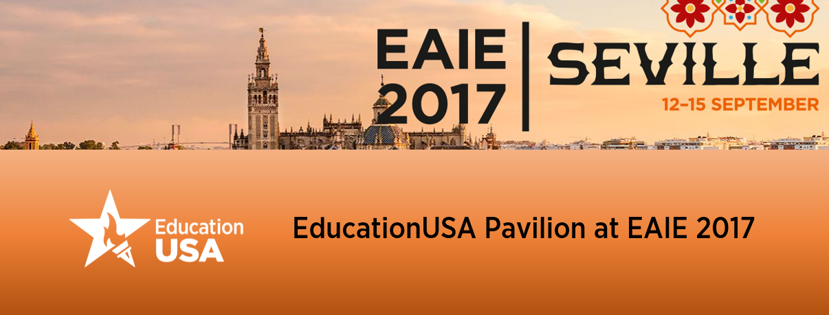 EdUSA Pavilion at EAIE 2017 Seville -  banner 02.0