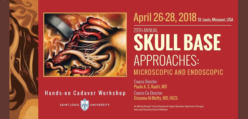 29th Annual Skull Base Approaches: Microscopic and Endoscopic Approaches