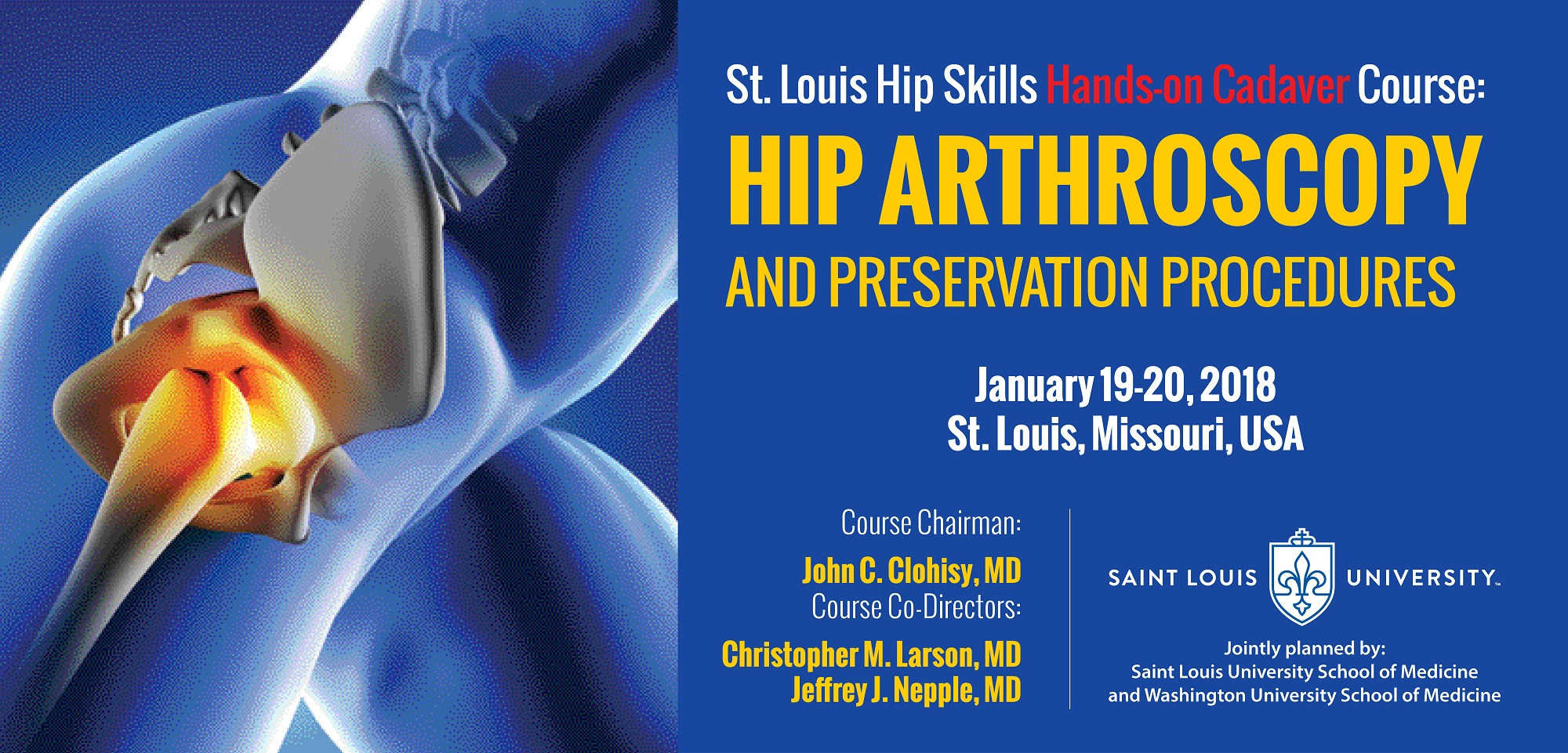 St. Louis Hip Skills Course: Hip Arthroscopy and Preservation  Procedures