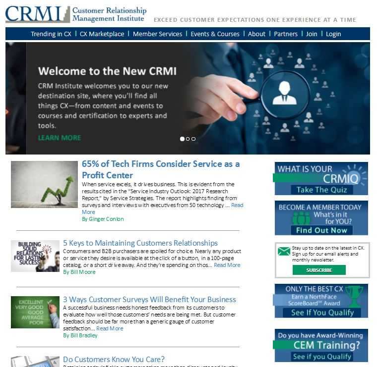 CRMI_Website Homepage