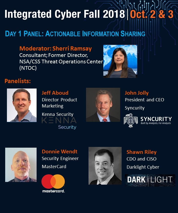 Day 1 BS1 Panel - Actionable Information Sharing