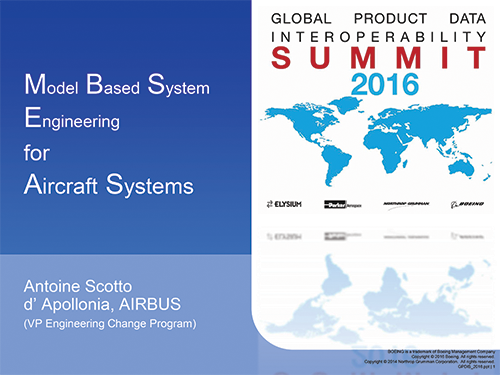 Model Based System Engineering for Aircraft Systems - Presented by: Antoine Scotto d' Apollonia, AIRBUS